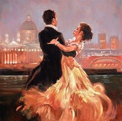 London Waltz by Mark Spain -  sized 20x20 inches. Available from Whitewall Galleries